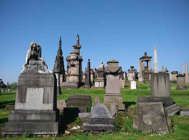 Cemetery, Glasgow, Necropolis, Grave, Scotland