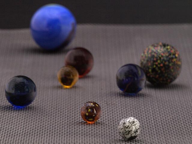 Glaskugeln, Marbles, Macro