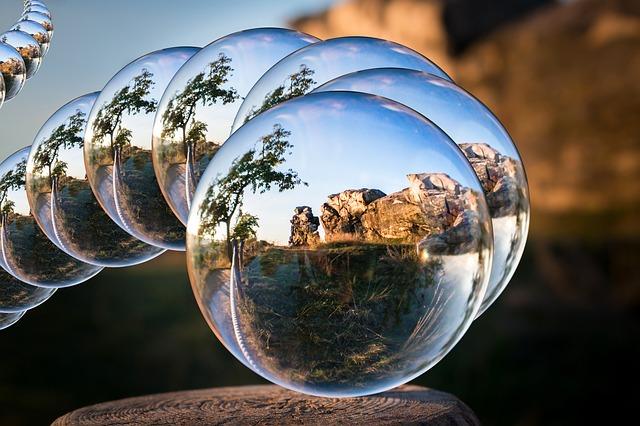Glass Ball, Devil's Wall, Resin, Königstein