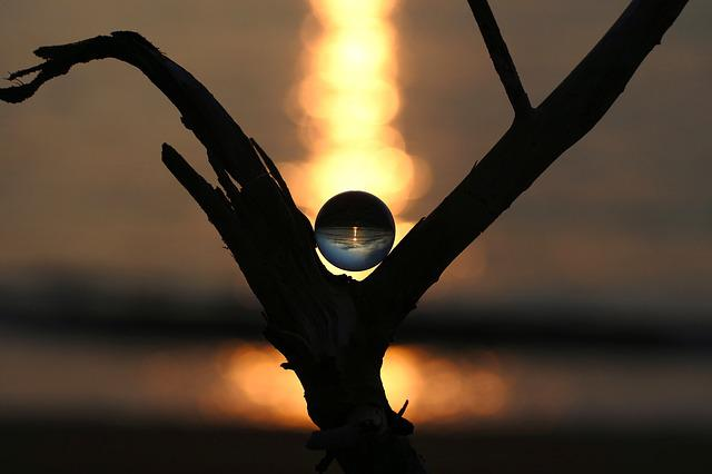 Natural, Landscape, Glass, Glass Beads, Marble, Ball