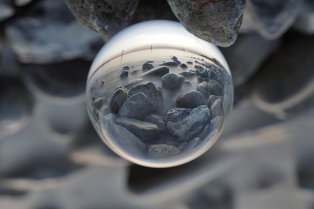 Background, Glass Ball, Ball, Stones, Lake