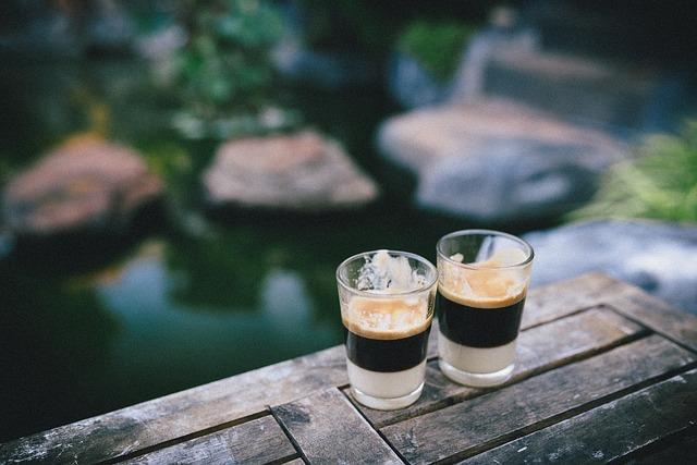 Coffee, Shot, Glass, Espresso, Blend, Balcony, View