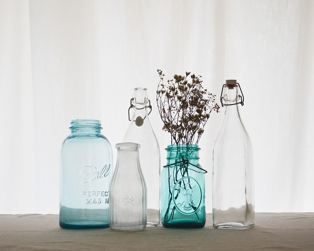 Bottle, Container, Glass, Aromatherapy, Jars, Blue
