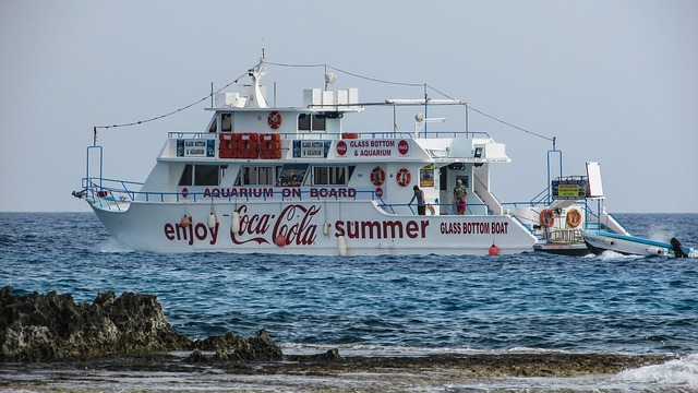 Cyprus, Ayia Napa, Cruise Boat, Glass Bottom, Tourism