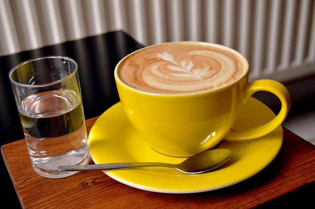 Coffee, Capuccino, Drink, Hot, Yellow, Cup, Glass