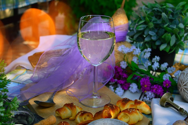 Celebration, Glass, Flower, Drink, Wine, Romantic