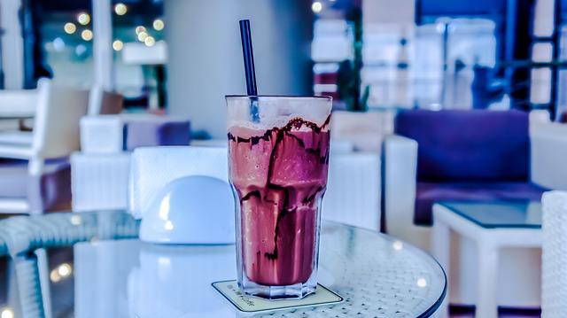 Table, Drink, Glass, Milkshake, Cold, Sweet, Milk