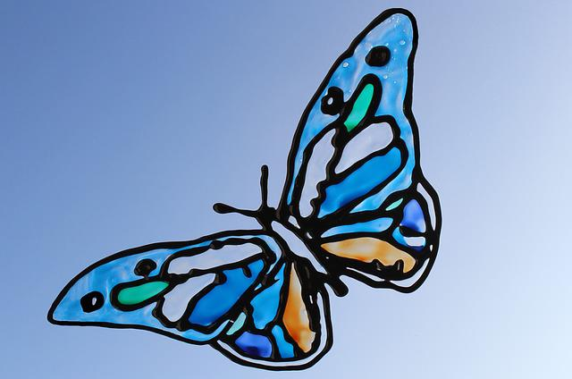 Window, Color, Butterfly, Colorful, Decoration, Glass