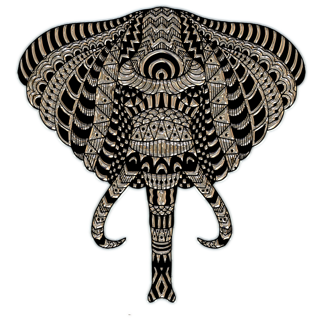 Elephant Head, Metallizer, Art, Glass, Factory