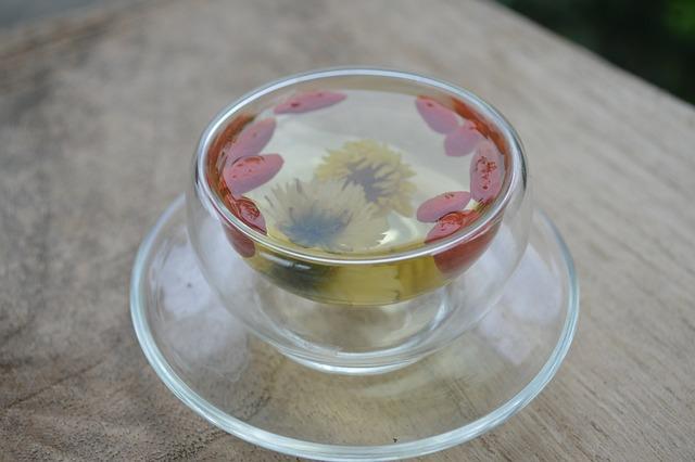 Wolfberry Tea, Tea, Chrysanthemum Tea, Flowering, Glass