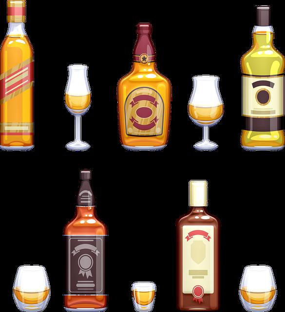 Whisky, Glasses, Bottles, Whiskey, Alcohol, Glass