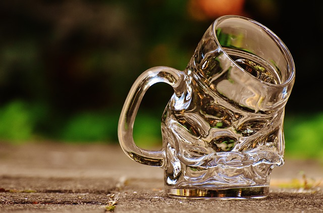 Mug, Deformed, Kink, Funny, Glass, Large Glass