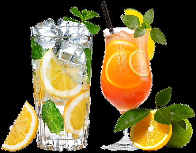Cocktail, Glass, Fougères, Berry, Dessert, Fruit, Lemon