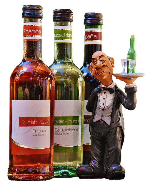 Wine Bottles, Transparent Free, Waiter, Liqueur, Glass
