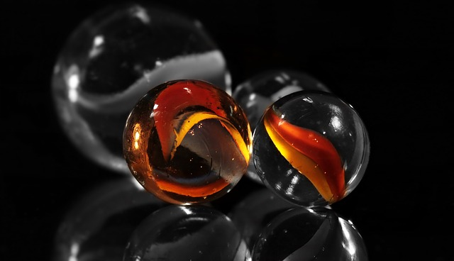 Marbles, Glaskugeln, Glass Marbles, Round, Color, S W