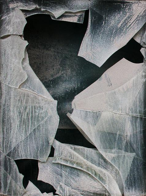 Destruction, Glass Mosaic, Powder, Window