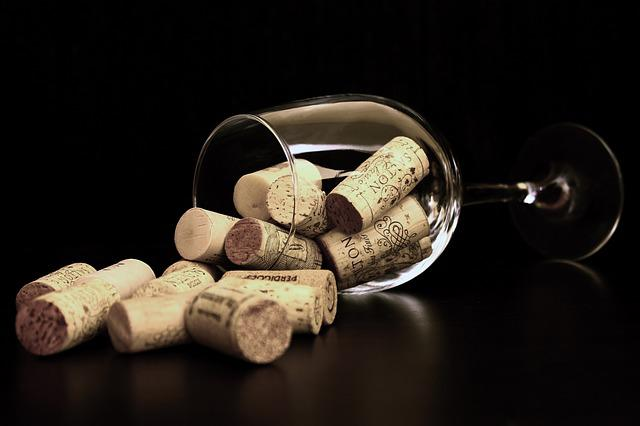 Cork, Bowls, Wine, Glass Of Wine, Cover, Abstract