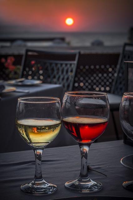 Wine, Glass, Sunset, Alcohol, Glass Of Wine, Drink
