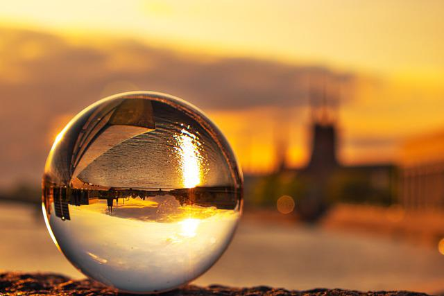 Sphere, Glass Globe, Light, Reflection, Colored, Glass