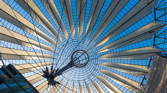 Architecture, Glass, Modern, Sony Center, Berlin