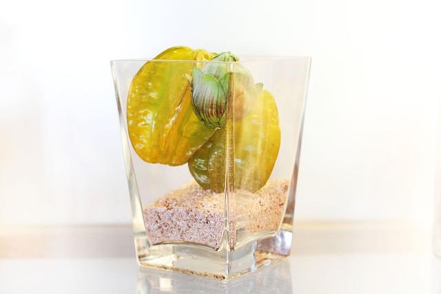 Glass, Fruit, Star Fruit, White