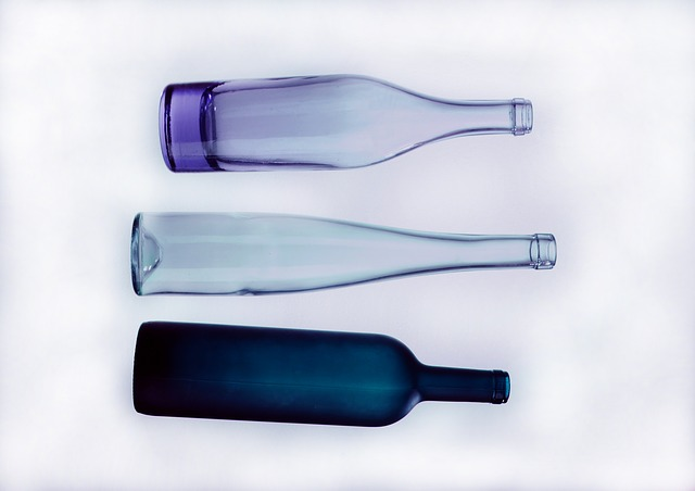 Glass, A Bottle Of, Composition, Studio, Background
