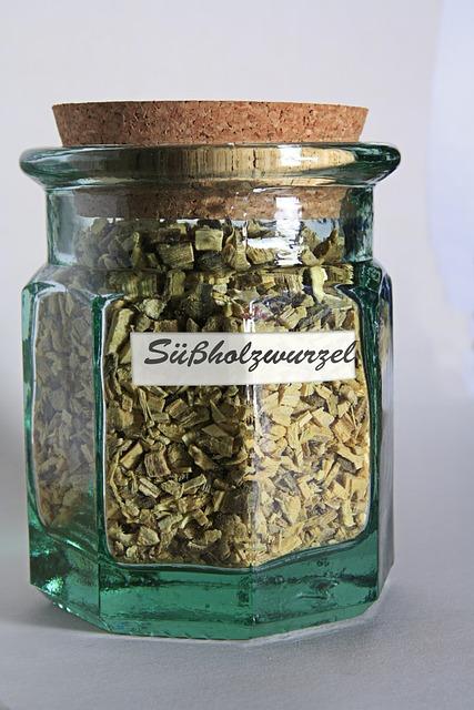 Glass Sweetener, Licorice Root, Cork, To