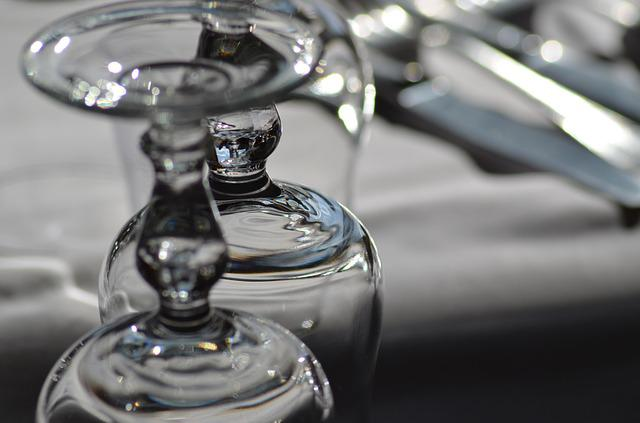 Glass, Glass Walk, Table, Table Wedding, Cutlery, Event