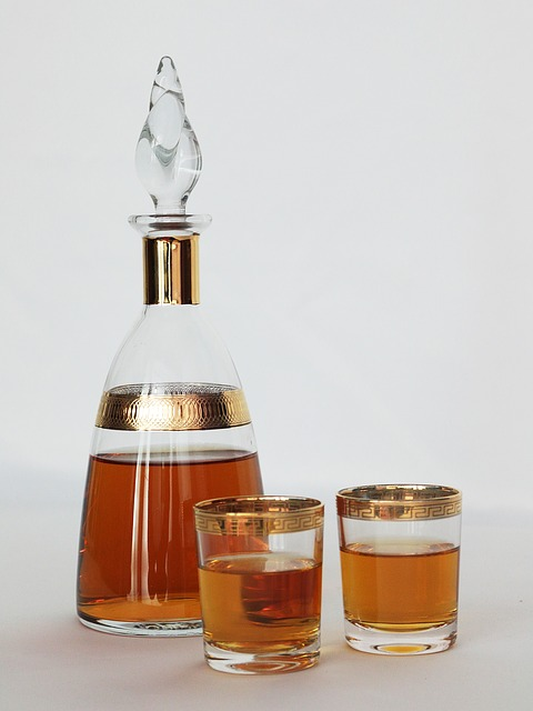 Service, Bottle, Alcohol, Glasses