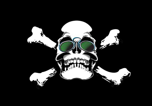 Printing On T-shirt, Skull, Glasses, Pince-nez, Blind