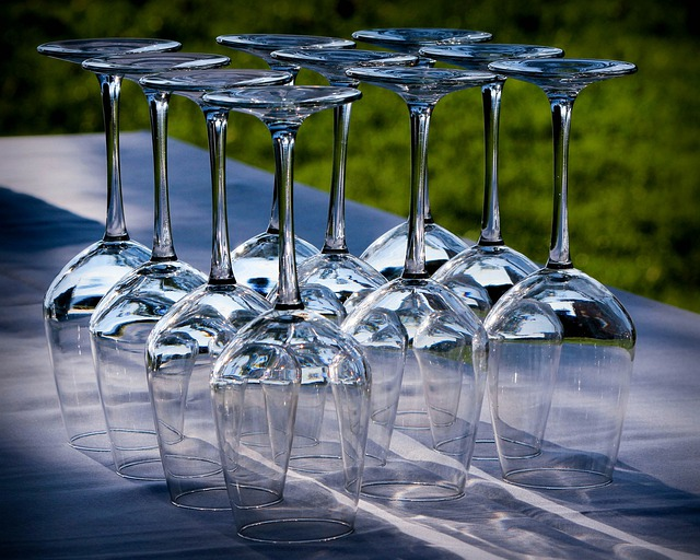 Wine Glasses, Stemware, Crystal, Party, Glasses