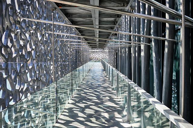 Steel, Industry, Glassware, Architecture, Sky, Mucem