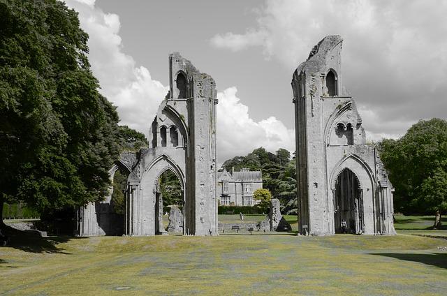 Glastonbury, Ruin, Cathedral, King Arthur, Henry Viii