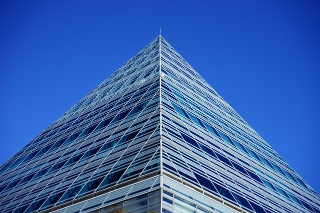 Building, Pyramid Peak, Glass Pyramid, Glass, Glazing