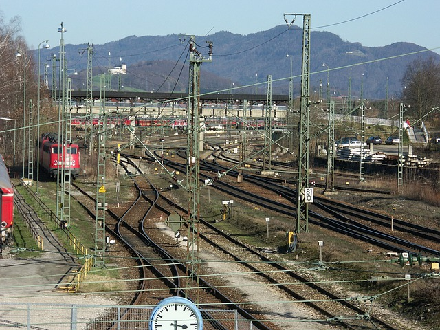 Railway Station, Railway, Freilassing, Seemed, Gleise