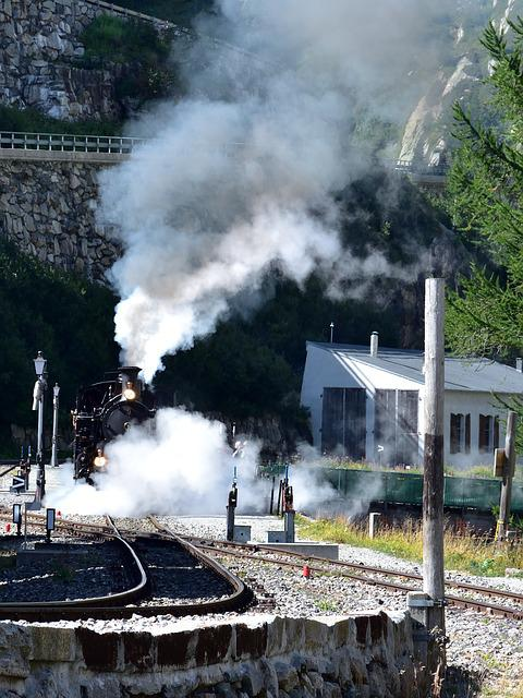 Steam Railway Furka-bergstrecke, Gletsch, Furka Pass