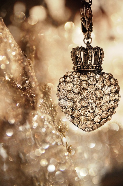 Gold, Christmas, Diamond, Glitter, Decoration