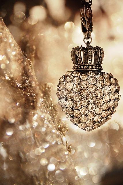 Gold, Christmas, Diamond, Glitter, Decoration