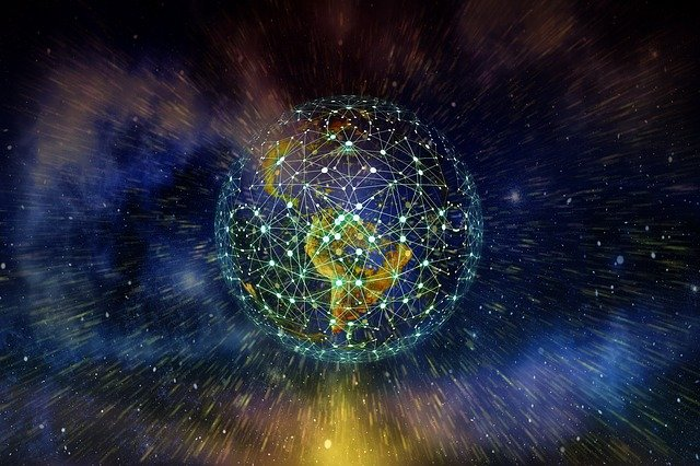 Earth, Network, Blockchain, Globe, Digitization