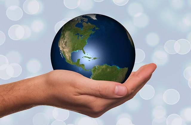 Hand, Keep, Globe, Earth, Continents, Usa, America