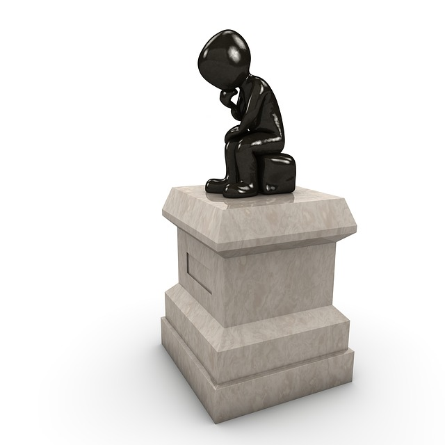 Monument, Thinker, Think, Force, Globe, Stone