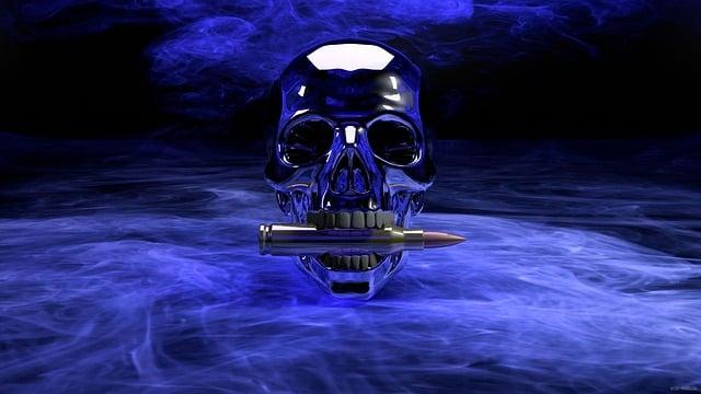 Skull, Skull And Crossbones, War, Gloomy, Scary, Death