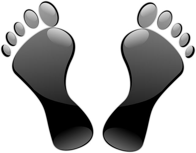 Feet, Toes, Footprints, Black, Glossy