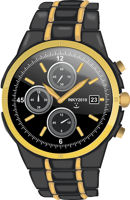 Ticker, Wrist Watch, Wristwatch, Gents, Glossy, Gold