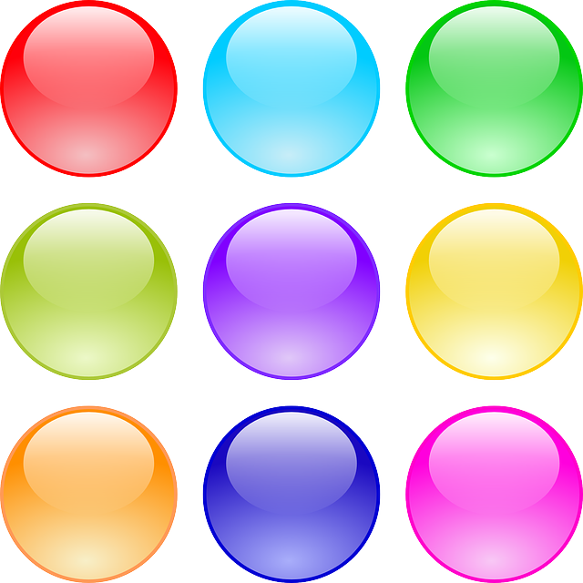 Buttons, Circle, Glossy, Gui, Round