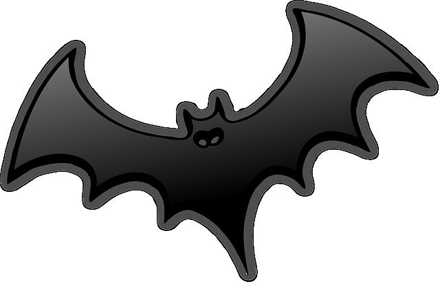 Bat, Black, Dracula, Wings, Spread, Halloween, Glossy