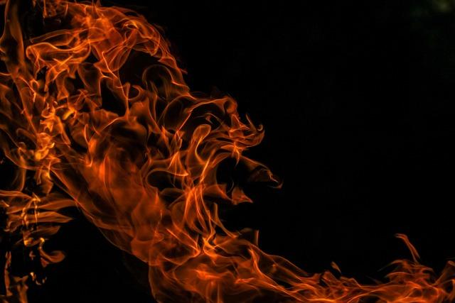 Fire, Flames, Heat, Glow, Warm, Black Fire