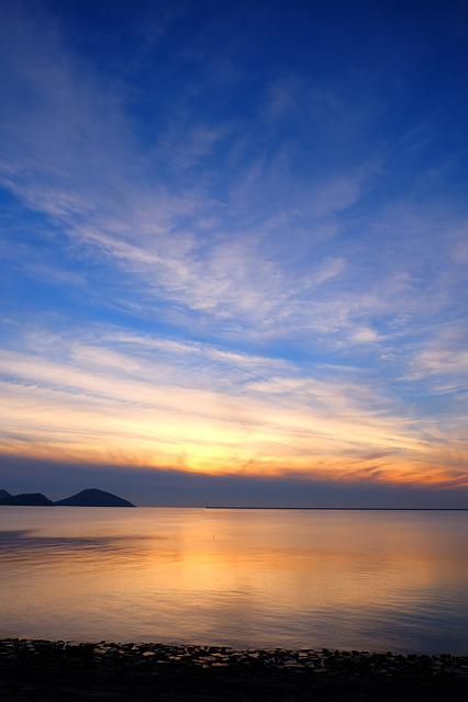 In The Evening, Glow, Sea, Sunset, Sky, Evening Sky