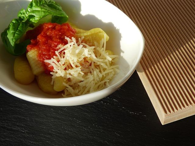 Gnocchi, Tomato Sauce, Potato Dumplings, Basil