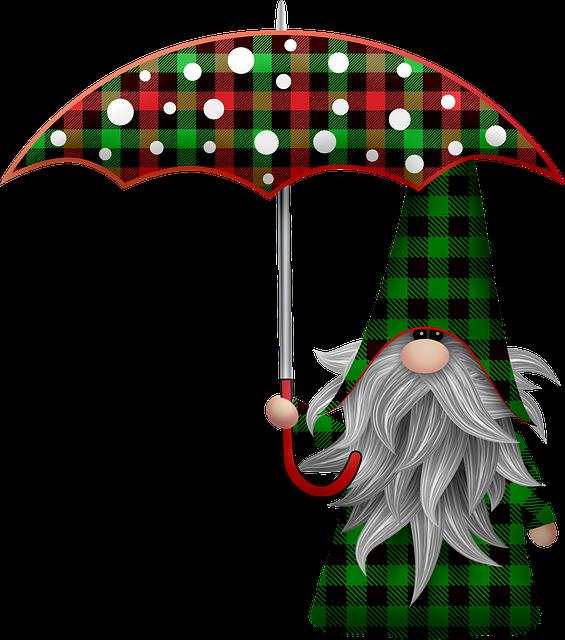Christmas Gnome, Scandia, Bart, Buffalo Plaid, Gnome